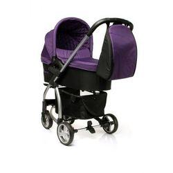 4Baby Atomic wózek dziecięcy wielofunkcyjny 3 w 1 gondola + fotelik Purple