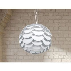 Lampa sufitowa wiszaca - zyrandol bialy - oswietlenie - MOSELLE
