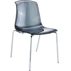 Krzesło designerskie do kuchni Siesta Allegra czarne transparentne