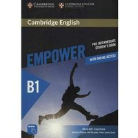 Cambridge English Empower Pre-Intermediate Student's Book with Online Assessment and Practice, and Online Workbook (opr. miękka)