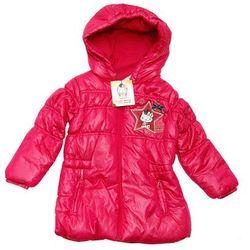 Hello Kitty długa kurtka zimowa dla dzieci -płaszczyk Czarny