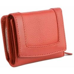 bd2879525c0ae Mała Damska Portmonetka RFID Monety Karty Zbliżeniowe Czerwony Skóra -  Czerwony