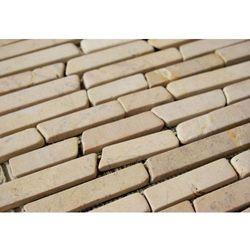 Mozaika kamienna brukowa marmurowa Divero kremowa