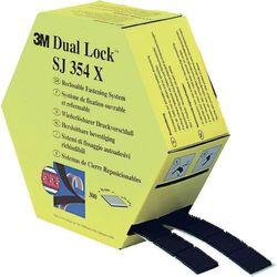 Taśma rzepowa Do przyklejenia Główka grzybkowa (DxS) 7500 mm x 25 mm Czarny 3M SJ354X Dual Lock™ 1 par(a)