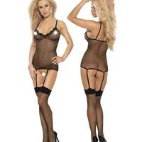 "Bodystocking Czarny S/M ""Kiss Me"""
