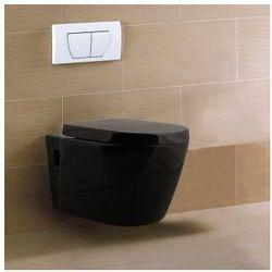 MARGO BLACK Miska WC wisząca + deska wolnoopadająca