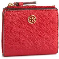 1634e7a317591 Mały Portfel Damski TORY BURCH - Robbinson Mini Wallet 54449 Brilliant Red  612
