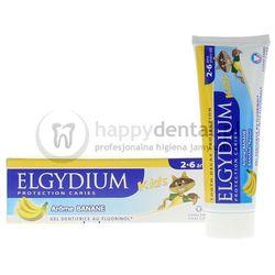 ELGYDIUM Kids 50ml - bananowa pasta do zębów mlecznych z fluorem dla dzieci w wieku 2-6 lat (żółta) - NOWOŚĆ!