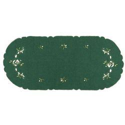 Forbyt Obrus świąteczny jemioła, zielony, 40 x 90 cm