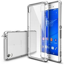 Obudowa Rearth   Etui Ringke Fusion Case + Folia ochronna   Sony Xperia Z3   kolor Crystal View - Crystal