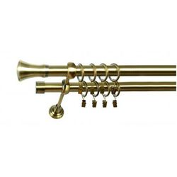 Karnisz Podwójny MARTA Ø19/19mm Monaco : dlugosc karniszy - 280 cm, Rodzaj - Metalowy, Kolor Karnisza - Chrom, Mocowanie - Ścienne