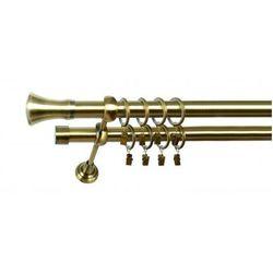 Karnisz Podwójny MARTA Ø19/19mm Monaco : dlugosc karniszy - 280 cm, Rodzaj - Metalowy, Kolor Karnisza - Tytan, Mocowanie - Ścienne