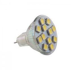 Żarówka LED MR11 G4 12LED SMD 5050 12V biała ciepła
