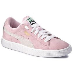 Sneakersy PUMA Suede Jr 355110 30 Pink LadyWhiteTeam Gold
