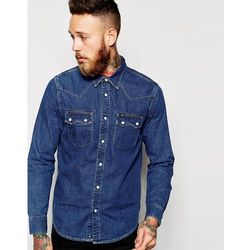 Lee Regular Fit Denim Shirt Western Mid Stonewash - Blue