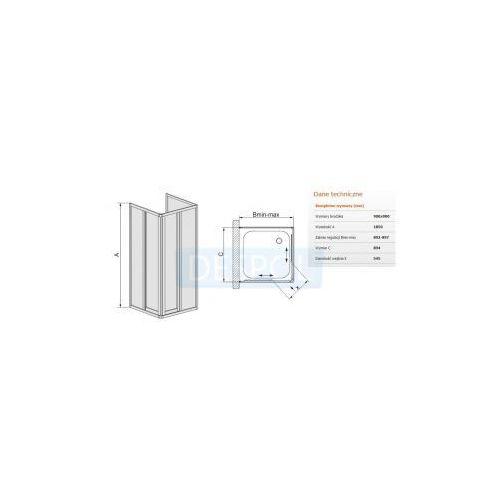 Sanplast Classic kt/dr-c-90  90 x 90 (600-013-0830-10-410)