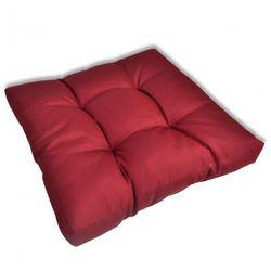 Tapicerowana poduszka do siedzenia, czerwone wino 60 x 60 x 10 cm Zapisz się do naszego Newslettera i odbierz voucher 20 PLN na zakupy w VidaXL!