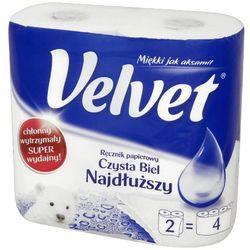 VELVET 2szt Najdłuższy Czysta biel ręcznik papierowy