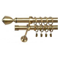 Karnisz Podwójny ELA Ø25/19 mm Avanti : dlugosc karniszy - 340 cm, Rodzaj - Metalowy, typ karnisza - Podwójny, Kolor Karnisza - Tytan, Mocowanie - Ścienne