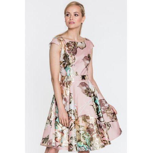 8d6566dde5 Rozkloszowana sukienka w pudrowym różu - Studio Mody Francoise ...