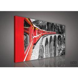 Obraz Czerwony pociąg na czarno-białym tle PP618O1