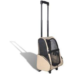 vidaXL Składany wielofunkcyjny wózek na zwierzaki beżowy Darmowa wysyłka i zwroty