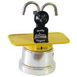 Kawiarka Top Moka Mini 2 filiżanki - srebrno żółta