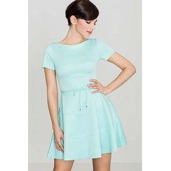 78ad44e1e9 suknie sukienki rozkloszowana sukienka do kolan z dlugim rekawem ...