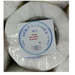 Agrowłóknina wiosenna PP 23 g/m2 biała 1,6 x 100 mb. Rolka o wadze 4,3 kg.
