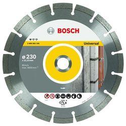 Bosch Tarcza diamentowa 230mm, universal - Gwarancja terminu lub 50 zł! - Bezpłatny odbiór osobisty: Wrocław, Warszawa, Katowice, Kraków
