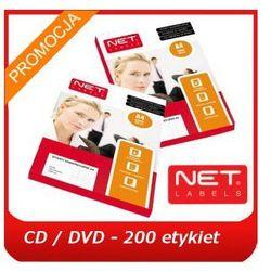 Etykiety samoprzylepne CD / DVD [2 na A4 - razem 200 etykiet], białe, matowe w arkuszach A4, Net-Labels, Kom-Pap