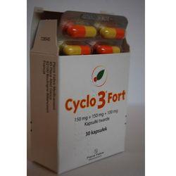 Cyclo 3 Fort kapsułki twarde 0.150g x 30