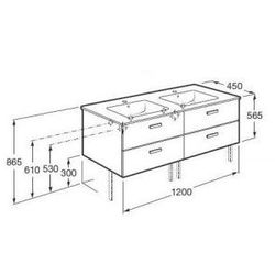 ROCA Victoria Basic Unik szafka z szufladami biały połysk + umywalka 120 A855850806