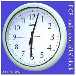 Zegar wodoszczelny biały sterowany radiowo 40cm