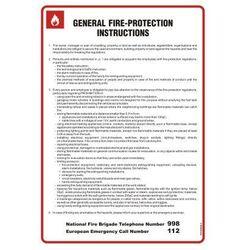 General fire - protection instructions. Instrukcja ogólna przeciwpożarowa ( wersja angielska )