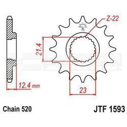 Zębatka przednia JT F1593-14, 14Z, rozmiar 520 2201467 Yamaha YFM 250