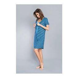 956a299b3214d7 Koszula z rewersem Italian Fashion - Sitia Turkusowa