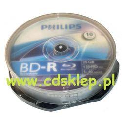 Blu-Ray BD-R Philips 25GB x4 cake-box 10szt.