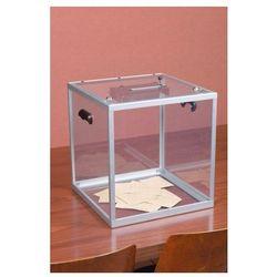 Duża urna z plexi pomieści do 1200 standardowych kart do głosowania