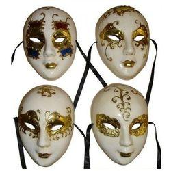 Maska wenecka pełna złota