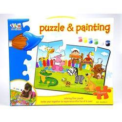 Zoo, puzzle do malowania, zestaw Darmowa dostawa do sklepów SMYK