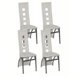 vidaXL Jadalniane krzesła, białe, 4 Darmowa wysyłka i zwroty