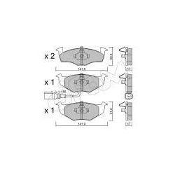 CIFAM Zestaw klocków hamulcowych, hamulce tarczowe - 822-206-3