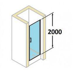 Drzwi do wnęki Huppe Classics 90 cm, wys. 200 cm, srebrny mat, szkło przeźroczyste z Anti Plaque C23505.087.322