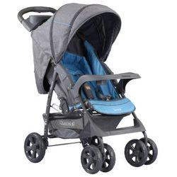 Adamex, Quatro Imola, wózek spacerowy, szary niebieski Darmowa dostawa do sklepów SMYK
