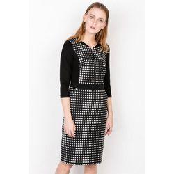 dba8549fd9 suknie sukienki czarno biala sukienka w delikatna kratke - porównaj ...