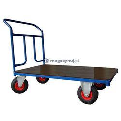 Wózek platformowy jednoburtowy, platforma z blachy. Wym. 1200x700mm (Ładowność: 250kg)