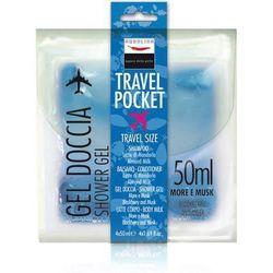 AQUOLINA SET Travel Pocket szampon Brzoskwinia Morela 50ml + odzywka Brzoskwinia Morela 50ml + zel pod prysznic Mrozona Herbata 50ml + balsam do ciala Zielona Herbata 50ml