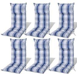 vidaXL Poduszki na krzes?a ogrodowe, fotele, niebieskie x 6 Darmowa wysy?ka i zwroty