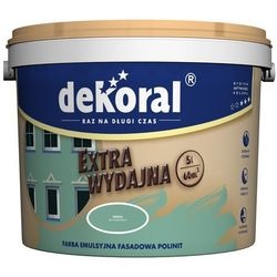 Farba emulsyjna fasadowa Polinit Dekoral Czarny 1L